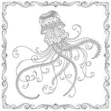 free coloring pages jellyfish johanna basford lost ocean free jellyfish pattern download whsmith