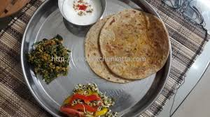 kitchen katta radish mooli paratha and radish greens subji