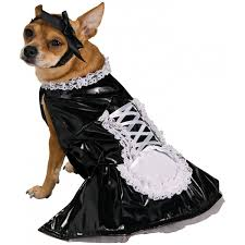 amazon com french maid pet halloween costume medium pet supplies