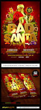 thanksgiving party flyer bad santa flyer template by industrykidz graphicriver