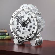 coolest clocks the tabletop gear clock hammacher schlemmer u2026 pinteres u2026