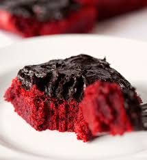 red velvet brownies with chocolate lovers u0027 frosting