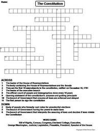 us constitution worksheet crossword puzzle by science spot tpt