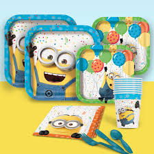minions party supplies despicable me minions birthday party supplies theme party packs