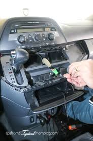 how to install an aux input cable in your honda odyssey so you can