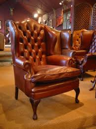 Queen Anne Wingback Chair Leather Leather Chairs Of Bath Chelsea Design Quarter Leather Queen Anne