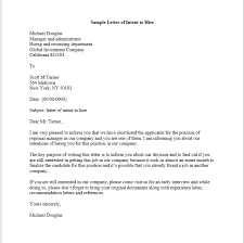 sample letter of intent to hire u2013 smart letters
