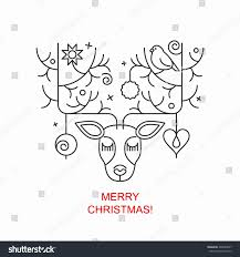 Christmas Deer Head Decorations by Abstract Deer Head Decoration Christmas Balls Stock Vector
