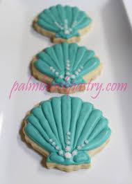 seashell small sea shell sugar cookie 1 dozen 12 shell