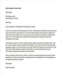 Transfer Request Letter In Bank ideas collection transfer request letter for bank employee on 7