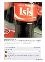 Share A Coke Meme - facebook fail share a coke with isis the lowdown