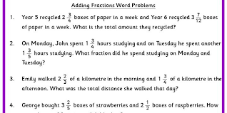 adding fractions word problems classroom secrets