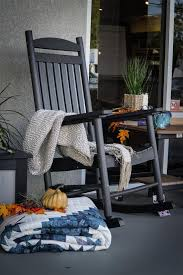 Old Rocking Chair On Porch Amish Made Porch Rockers And Polywood Rockers From Dutchcrafters