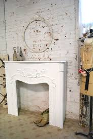 painted cottage chic shabby white fireplace mantle pcmantle