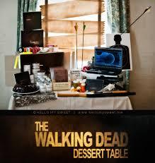 walking dead party supplies sweet the walking dead birthday dessert table