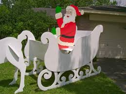 Unique Outdoor Christmas Decorations by Gigantic Santa U0026 Sleigh This Christmas Yard Art Decoration Was