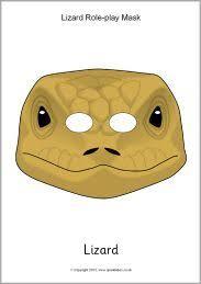printable lizard mask template reptile printable masks lizard mask turtle alligator chameleon