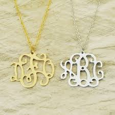 initials jewelry custom alloy monogram necklace monogram name necklace initials