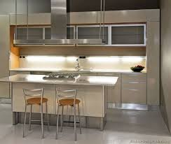 stainless steel kitchen cabinet with modern two tone a beige light