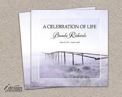 Funeral Service Announcement Wording Celebration Of Life Etsy
