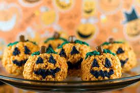 rice crispy treat pumpkins pumpkin rice krispies with sprinkles on top