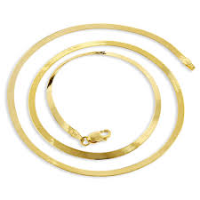 gold solid necklace images Ladies solid 10k yellow gold herringbone chain necklace 2 3mm jpg