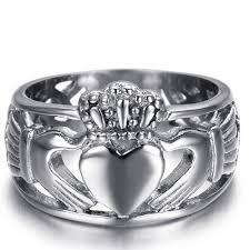 claddagh ring stainless steel claddagh ring with knotted detail sizes 6 15