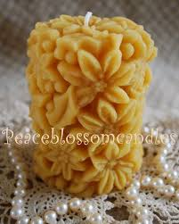 beeswax candles flowers beautiful candles pinterest