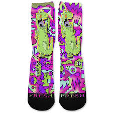 rugrats reptar rugrats custom athletic fresh socks u2013 fresh elites