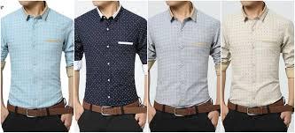 fashion men clothes polka dot casual men shirts long sleeve slim