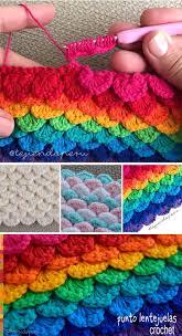 sequins stitch crochet pattern tutorial crochet pinterest
