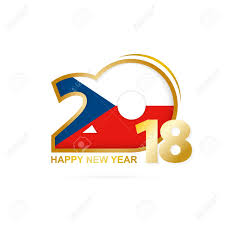 Chez Republic Flag Year 2018 With Czech Republic Flag Pattern Happy New Year Design