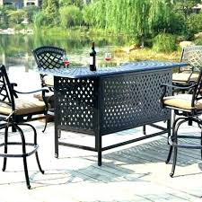 patio table with 4 chairs outdoor bar height dining table and chairs outdoor counter height