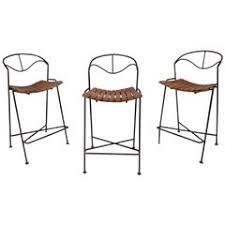 amazing set of 4 vintage french casino tufted leather bar stools