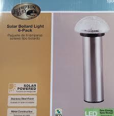 Solar Powered Bollard Lights - amazon com hampton bay solar bollard light 6 pack stainless