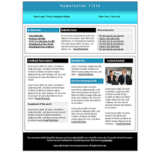 company image free newsletter template