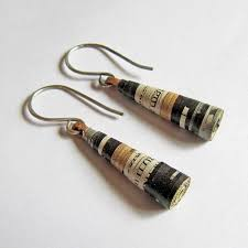 eco friendly earrings eco friendly jewelry made of paper clay hemp and yarn general