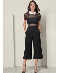 black and white jumpsuit don t miss this bargain venus s culotte pant jumpsuit