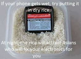 Phone Dry Meme - if your phone gets wet try putting it in dry rice weknowmemes