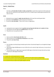 level 8 chemistry states of matter notes and worksheets