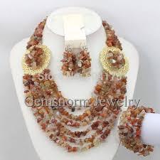 beaded jewelry design necklace images Latest fashion nigerian beads jewelry set rhinestone african jpg