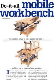 100 it work bench plans needed to build a simple workbench