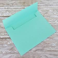 bright mint green envelopes for invitations or cards
