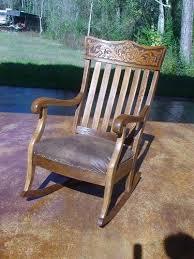 Oak Rocking Chairs Antique Oak Wind Face Rocking Chair Hand Carved Quartersawn 1800 U0027s
