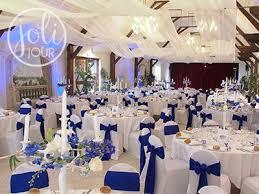 d corations mariage location noeuds chaise satin bleu roi electrique decoration