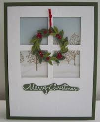 Christmas Window Frame Decoration by 200 Best Window U0026 Door Diecut Cards Images On Pinterest Window