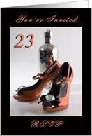 23rd birthday invitations from greeting card universe