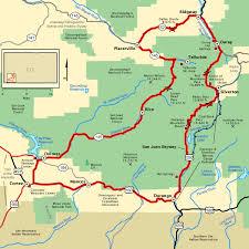 san juan map san juan skyway map america s byways