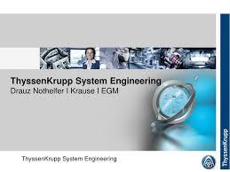 ppt thyssenkrupp system engineering powerpoint presentation id