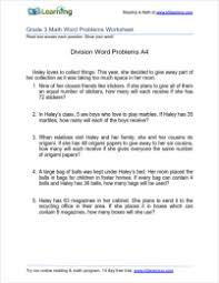 division for grade 3 grade 3 division word problem worksheets k5 learning